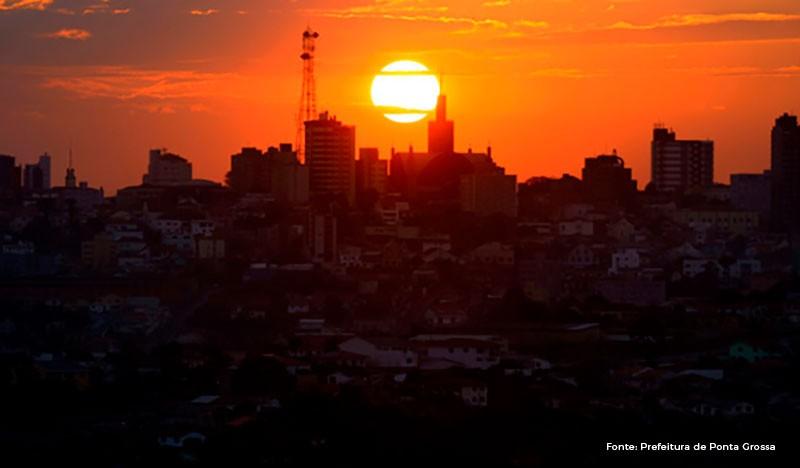 Ponta Grossa pôr do sol